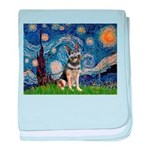 Starry / German Shepherd 10 baby blanket