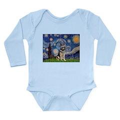 Starry / German Shepherd 10 Long Sleeve Infant Bod