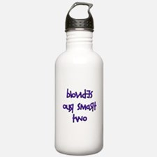 BLONDES OUR SMART TWO - PURPL Water Bottle