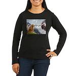 Golden Creation Women's Long Sleeve Dark T-Shirt