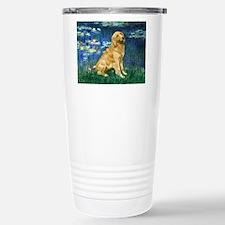Lilies (#5) & Golden (1B) Travel Mug