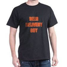 Beer Delivery Guy Black T-Shirt