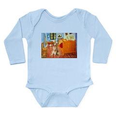 Room / Golden Long Sleeve Infant Bodysuit