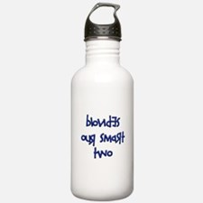 BLONDES OUR SMART TWO - BLUE Water Bottle
