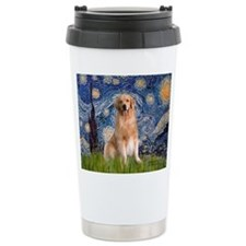 Starry Night / Golden Travel Mug
