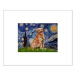 Starry Night Golden Small Poster