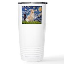 Starry Night & Golden Travel Mug