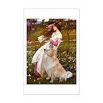 Windflowers / Golden Mini Poster Print
