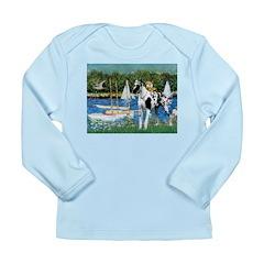Sailboats / Gr Dane (h) Long Sleeve Infant T-Shirt