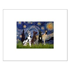 Starry / 4 Great Danes Posters