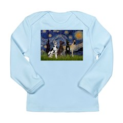 Starry / 4 Great Danes Long Sleeve Infant T-Shirt