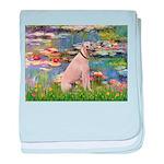 Lilies2/Greyhound (f) baby blanket