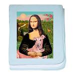 Mona Lisa / Greyhound #1 baby blanket