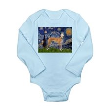 Starry / Greyhound (f) Long Sleeve Infant Bodysuit