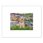 Lilies / Havanese Small Poster