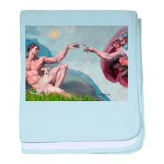Creation / Ital Greyhound baby blanket