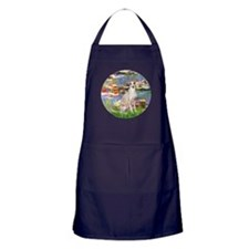 Lilies / Ital Greyhound Apron (dark)