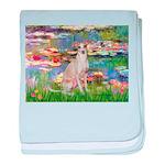 Lilies / Ital Greyhound baby blanket