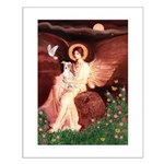 Seated Angel / Ital Greyhound Small Poster