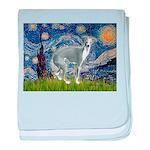 Starry Night/Italian Greyhoun baby blanket