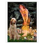 Fairies/ Italian Spinone Small Poster