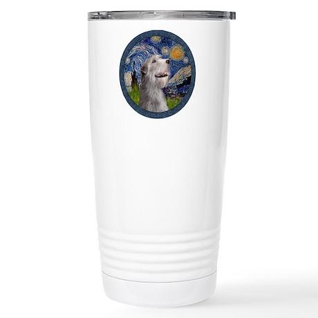 Starry Irish Wolfhound Stainless Steel Travel Mug