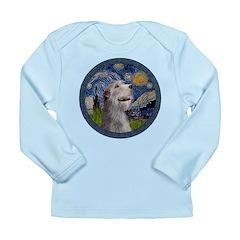 Starry Irish Wolfhound Long Sleeve Infant T-Shirt