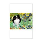 Irises/Japanese Chin Mini Poster Print