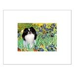Irises/Japanese Chin Small Poster