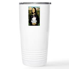 Mona Lisa/Japanese Chin Travel Mug