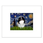 Starry/Japanese Chin Small Poster