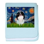 Starry/Japanese Chin baby blanket
