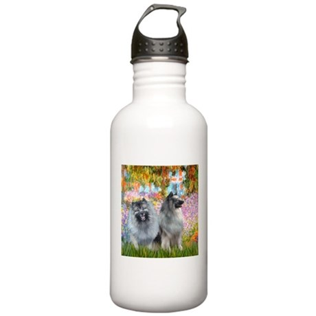 Garden / Two Keeshonds Stainless Water Bottle 1.0L
