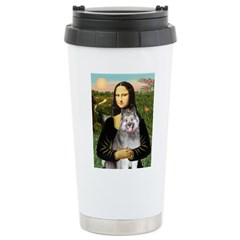 Mona's Keeshond (E) Stainless Steel Travel Mug