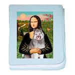 Mona's Keeshond (E) baby blanket