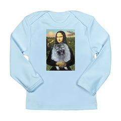 Mona Lisa / Keeshond (F) Long Sleeve Infant T-Shir