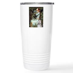 Opohelia's Keeshond (E) Stainless Steel Travel Mug
