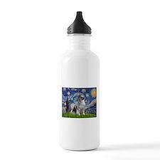 Starry / Keeshond Water Bottle