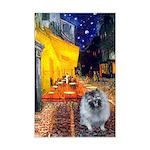 Cafe / Keeshond (F) Mini Poster Print