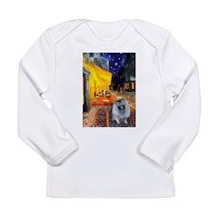 Cafe / Keeshond (F) Long Sleeve Infant T-Shirt