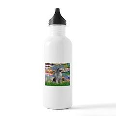 Lilies / Keeshond Water Bottle