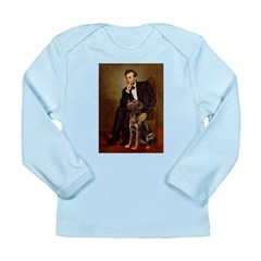 Lincoln / Chocolate Lab Long Sleeve Infant T-Shirt