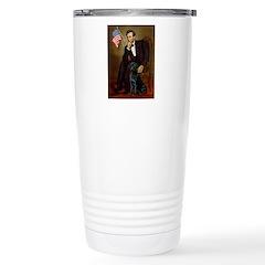Lincoln & his Black Lab Travel Mug