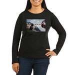 CREATION / Black Lab (#2) Women's Long Sleeve Dark