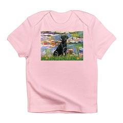 Lilies (#2) & Black Lab Infant T-Shirt