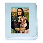 Mona / Labrador baby blanket