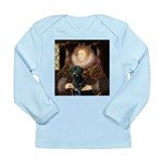 The Queen's Black Lab Long Sleeve Infant T-Shirt