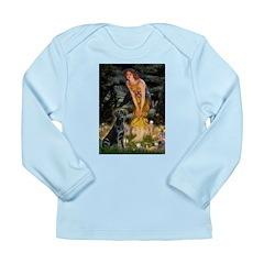 Fairies & Black Lab Long Sleeve Infant T-Shirt