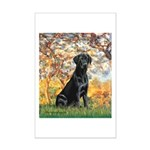 Spring & Black Lab Mini Poster Print
