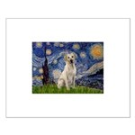 Starry Night Yellow Lab Small Poster